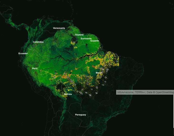 incendio en amazonas mapa espacial