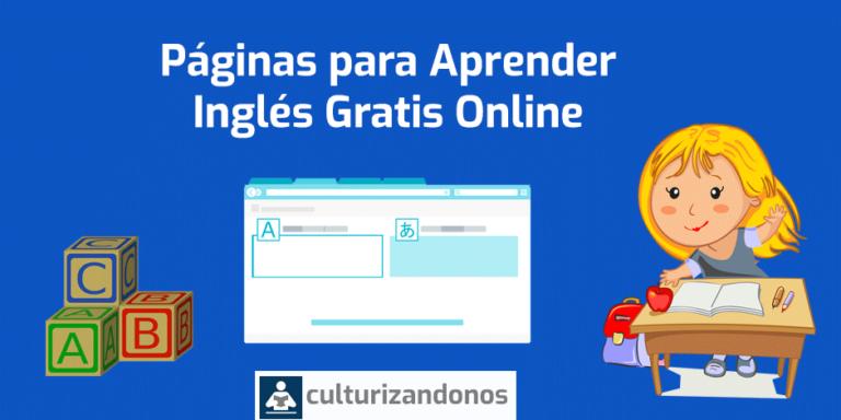 paginas para aprender ingles americano gratis online para ninos