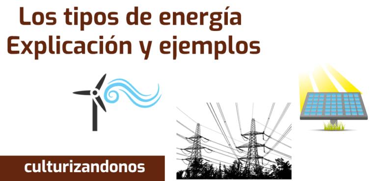 imagenes de ejemplos de los tipos de energia